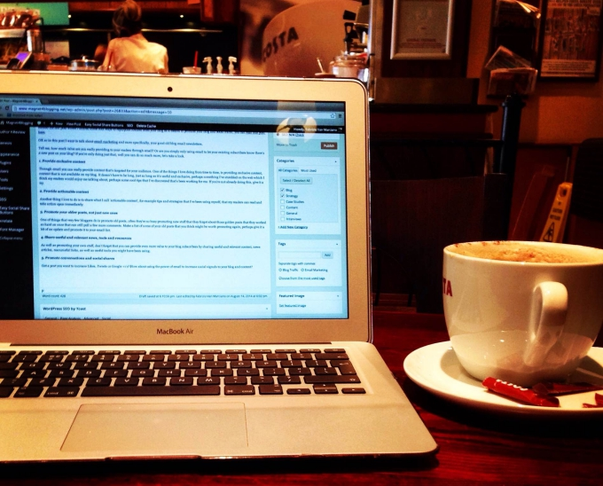 How To Blog From A Coffee Shop