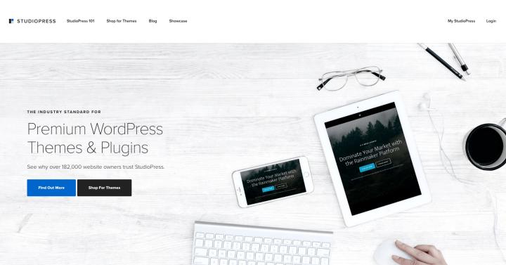 StudioPress Homepage 2016