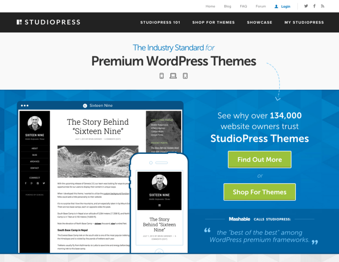 StudioPress Themes Gallery
