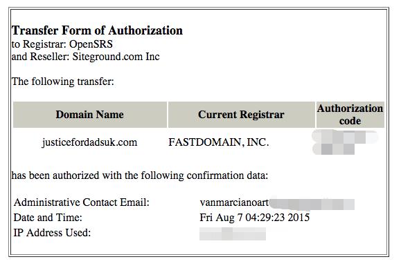 Authorise Transfer