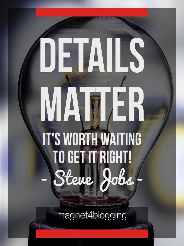 details matter quote