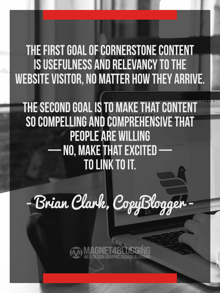 How to write cornerstone content that matters
