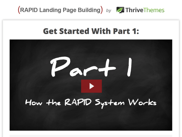 Rapid Landing Pages