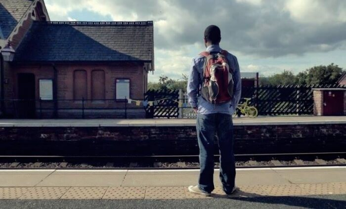 Fabrizio At Train Station