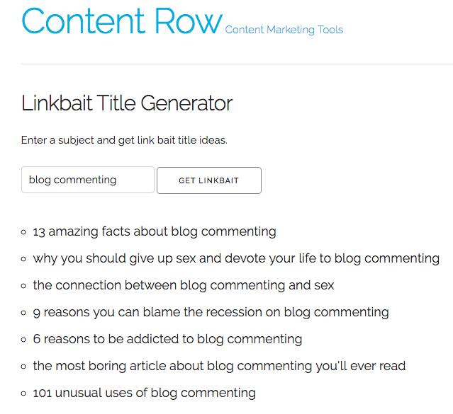 Link Bait That Title