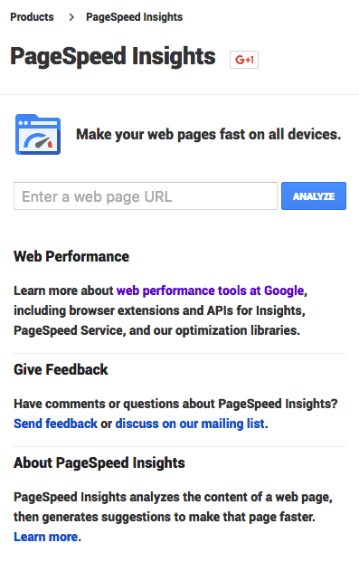 pagespeed insight mob
