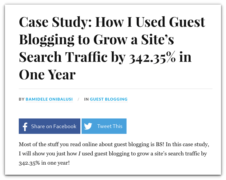 guest blogging case study