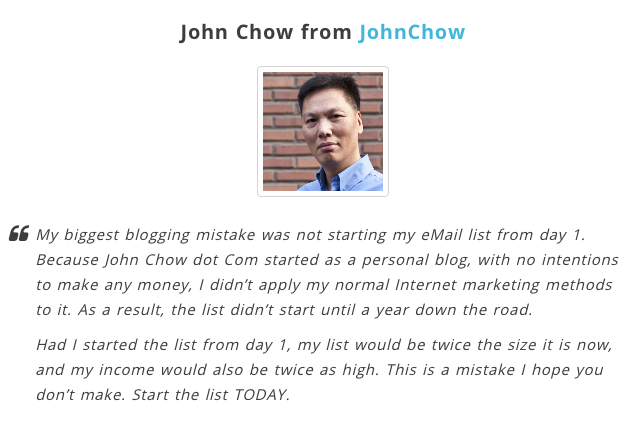 citazione di John Chow