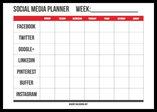 pianificatore di social media