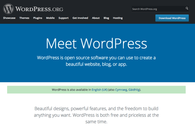 wordpress design page 1