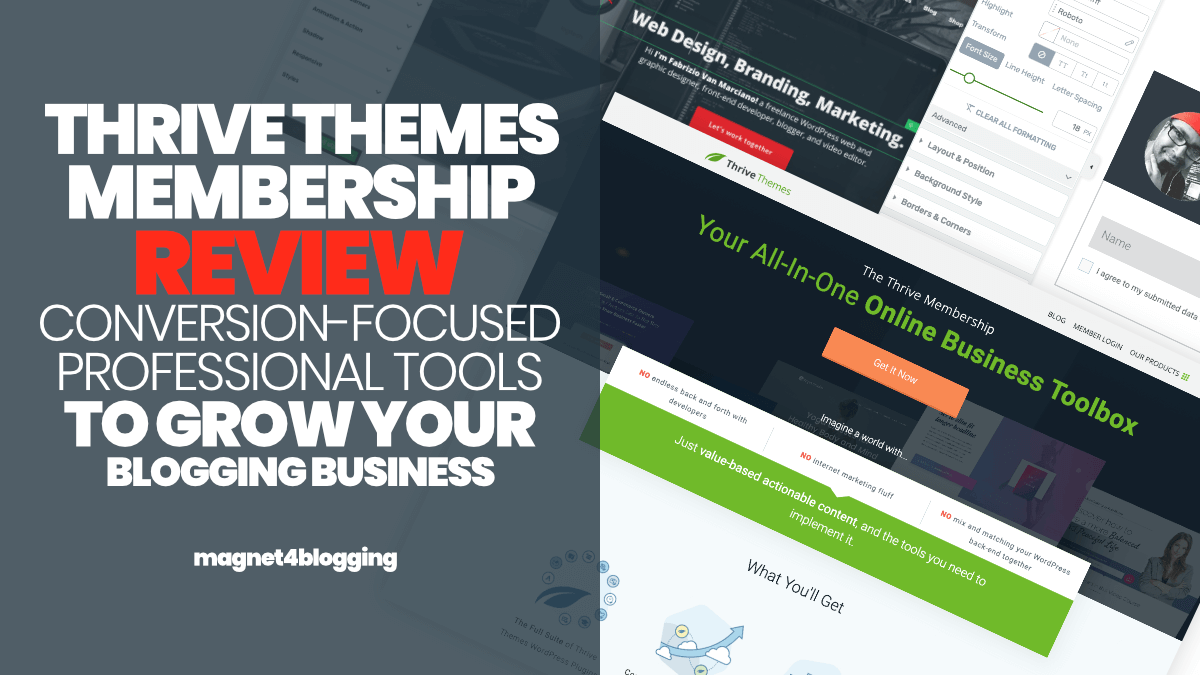 Thrive Themes WordPress Themes Price N Features