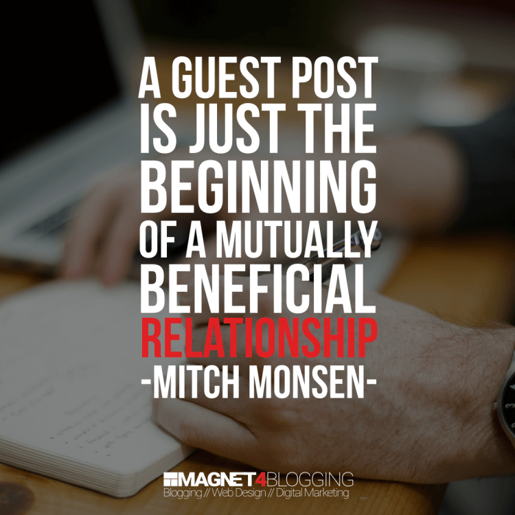 Guest Blogging Quote