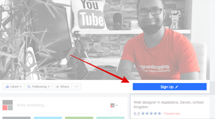 Signup Button FB