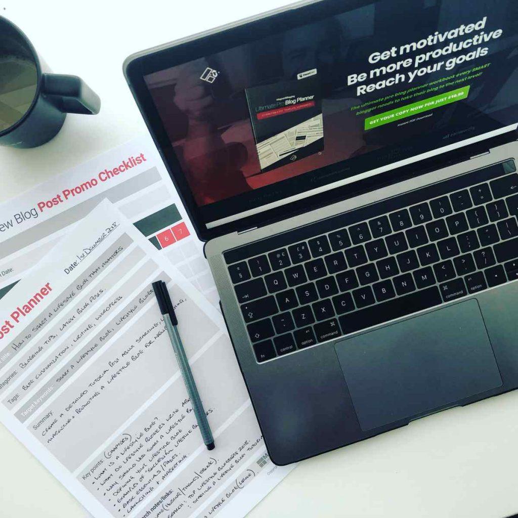 blog planner 2019