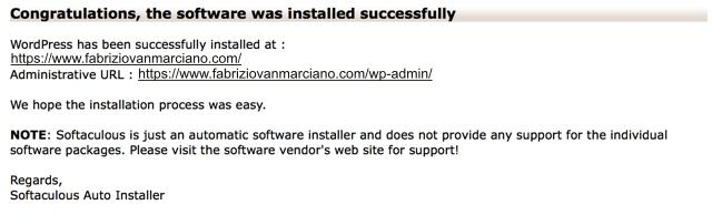 wp installed