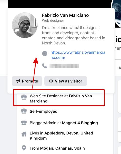 facebook bio link
