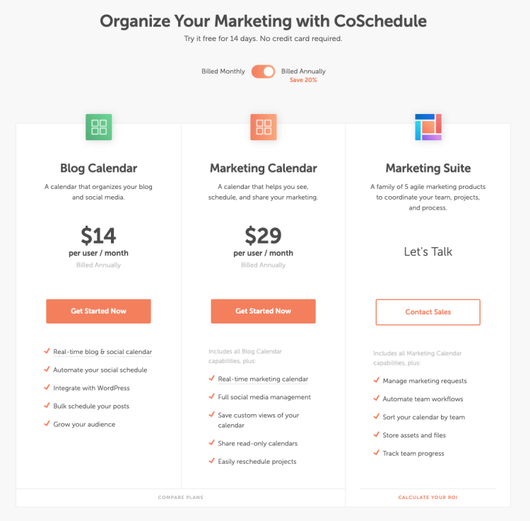 coschedule new pricing