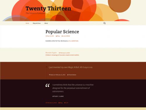 500px Twenty Thirteen Theme